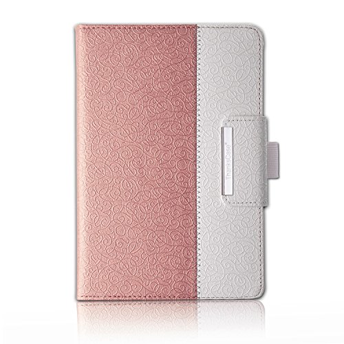 Thankscase iPad Air 2 Case, Rotating Case Cover Only for iPad Air 2 (2nd Generation) with Wallet Pocket with Hand Strap with Auto Sleep/Wake Function (NOT fit iPad Air 1st Generation)(Rose Gold 3)