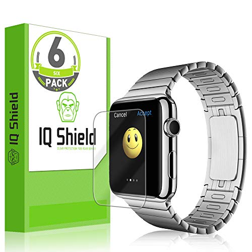 IQ Shield Screen Protector Compatible with Apple Watch Series 1 (42mm)(6-Pack) LiquidSkin Anti-Bubble Clear Film