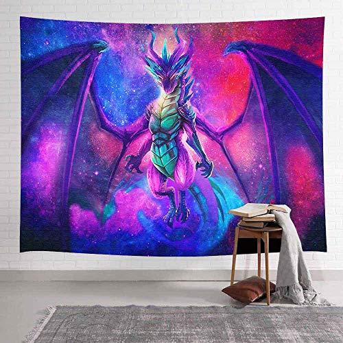 WERT Tapiz de dragón de Fuego fantasía Mundo Arte tapices para Colgar en la Pared para Sala de Estar hogar Dormitorio decoración Banner A5 150x130cm