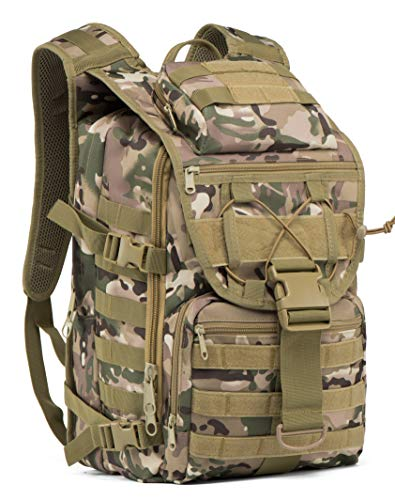 SUPERSUN 35L Military Tactical Backpack Large Waterproof Molle Bug Out Bag Army 3 Day Assault Pack (CP)