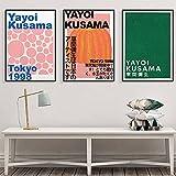 Yayoi Kusama Poster Mostra Poster E Stampa Giapponese Artista Arte Quadro Astratto Tela Parete Arte Opere d'Arte Quadri Moderni Casa Parete Decorazioni Quadri