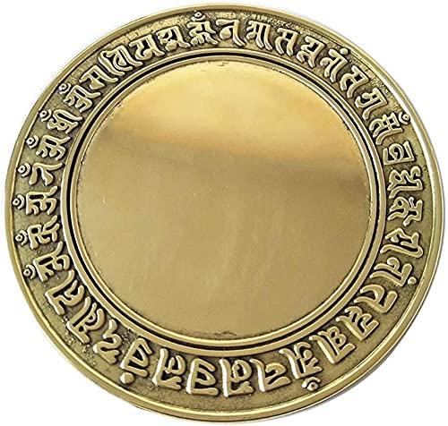 Espejo chino Bagua cobre Bagua espejo hogar cóncavo convexo colgante Feng Shui Lucky Ornaments Tai Chi decoración del hogar artesanía Feng Shui Bagua Espejos-11CM