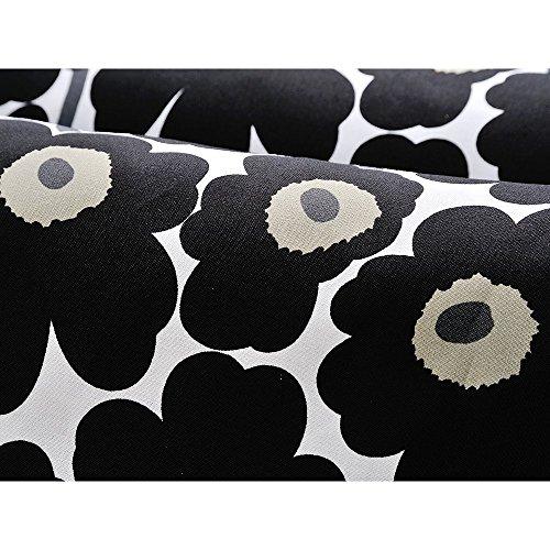ハーフカットクロス marimekko(マリメッコ) MINI UNIKKO(ミニウニッコ) ブラック 約70cm×50cm