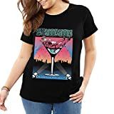 Photo de LPXUN Me First and The Gimme Gimmes Tres Grande Taille Manches Courtes T-Shirts Col Rond Shirt pour Femme Tops Et Chemisiers Black XL