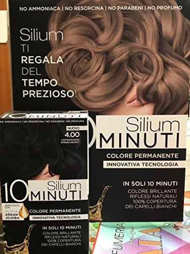 Silium 10 Minuti Colorazione Permanente Per Capelli, Castano Cioccolato 4.05-183 Gr