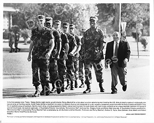 "MOVIE PHOTO: RENAISSANCE MAN-1994-DANNY DEVITO-BW 8""x10"" MOVIE STILL FN"