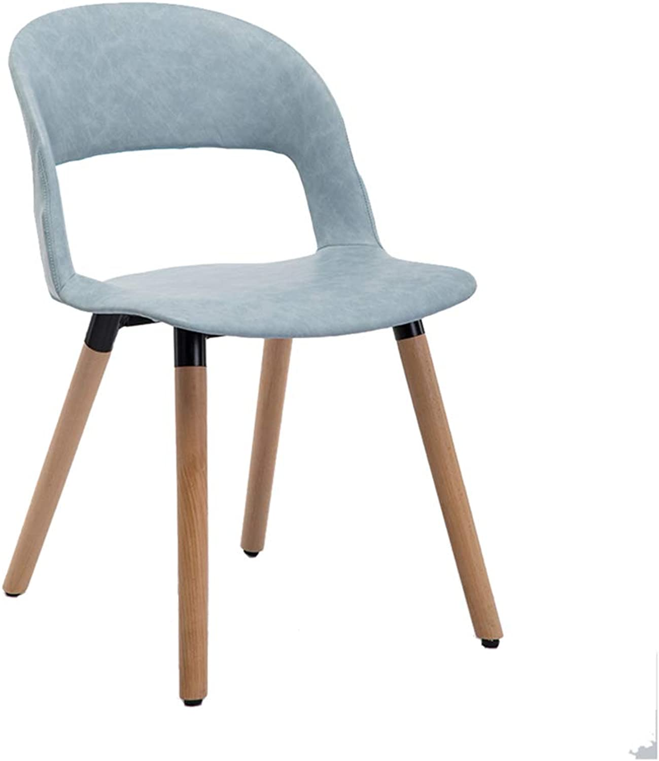 Nordic Solid Wood Dining Chair,Modern Creative Leisure Chair, PP Plastic Makeup Stool,for Restaurant Pub Cafe Living Room Bedroom