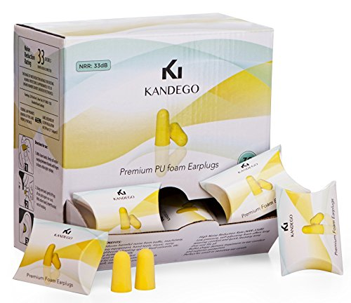 Kandego Ultra Soft Premium Foam Ear Plugs - 30 Pair - 33dB Highest NRR...
