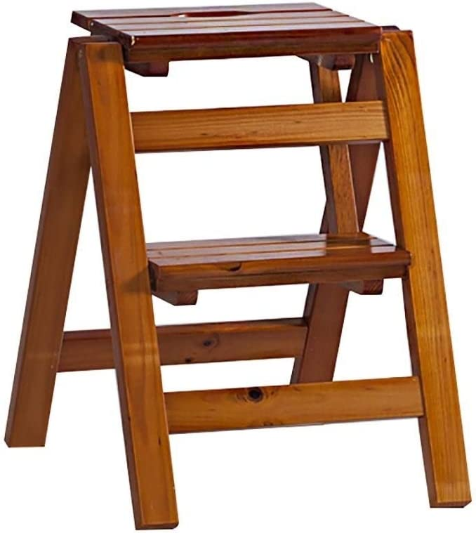 J-Step Ladders OFFer Portable Folding Ladder Max 68% OFF Stool Wood Solid Flower