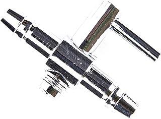 Medidores De Flujo De Regulador De Ox/ígeno De 2 Piezas De Manguera De 6 Mm Cobre //// Vidrio
