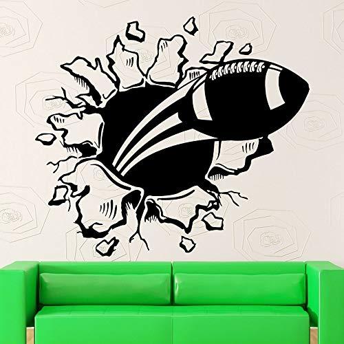 Tianpengyuanshuai American Football Break Squash muursticker van vinyl voor sport stadion kinderen slaapkamer thuisdecoratie
