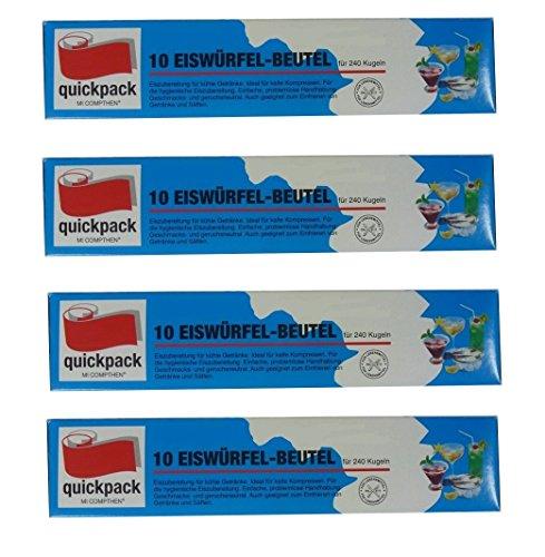 4 Packungen Eiswürfelbeutel a 240 Kugeln = 960 Eiswürfel Gesamt, Eiskugel, Eiskugeln, Getränkekühler