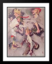 The Land of Enchantment 25x29 Framed and Double Matted Art Print by Rockwell, Norman