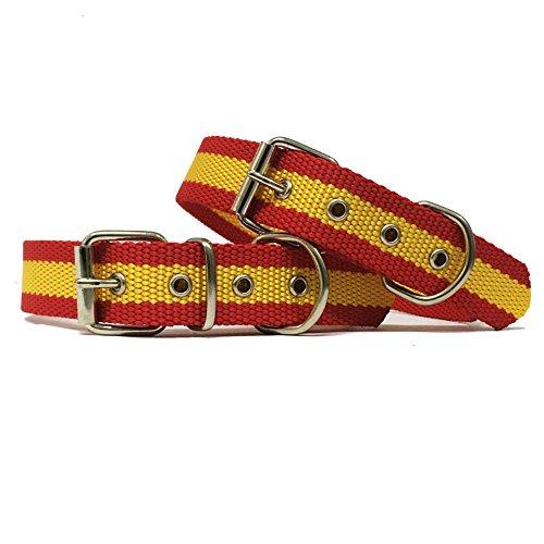 Happyzoo Collar para Perro Bandera de España 60 cm