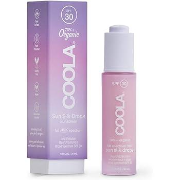 COOLA Sun Silk Drops, Full Spectrum + Digital UV Protection, SPF 30, Reef-Safe, 1 Fl Oz