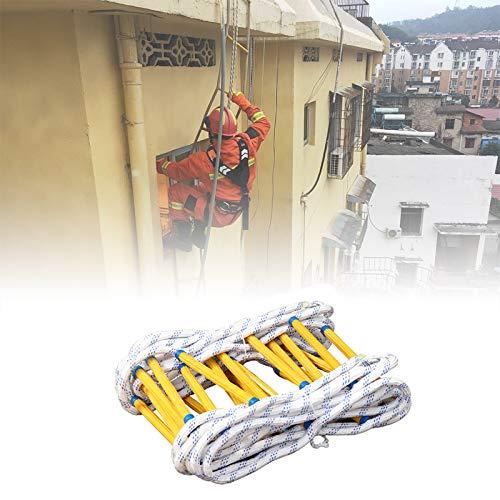 Escalera Cuerda Escape Incendio, Portátil Rescate rápido Escalera de cuerda de seguridad contra incendios Resina blanda Fácil de usar para el edificio alto de extinción de incendios en el hogar XUYAO