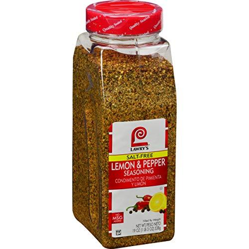 Lawry's Salt Free Lemon and Pepper Seasoning, 19 oz