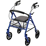 Drive Medical Four Wheel Walker Rollator with Fold Up Removable Back...
