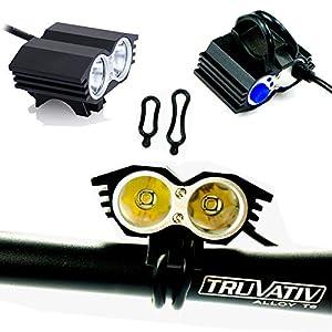 SEC LED LuzLáMPARA Frontal Cabeza CREE XM-L U2 5000 lúmenes LED de la Bicicleta/Luz LED Frontal para Manillar de Bicicleta Bicicletas (4 Modos) & 2 x Luz Luces L ámpara Trasera para Bici Bicicleta
