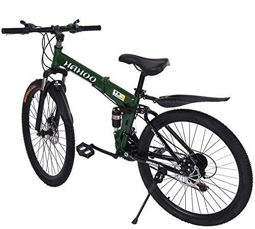 SYCY Bicicleta de montaña de Acero al Carbono de 26 Pulgadas Shimanos Bicicleta de 21 velocidades con suspensión Completa MTB-mi
