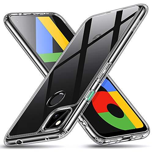 ESR Google Pixel 4a ケース 9H強化ガラス背面カバー & TPUフレーム [傷に強い] [耐衝撃] [ソフトバンパー] Pixel 4a 保護ケース – クリア