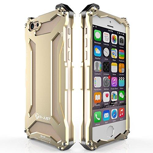 Iphone 6 Plus / 6s Plus Case, Lwang Luxury Aluminum Metal ShockProof Oxidation Aluminum Outdoor Sport Case Cover for Iphone 6 Plus / 6s Plus ( just gold)