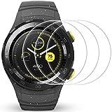 AFUNTA Protector de Pantalla para Huawei Watch 2, 3 Pack de películas de protección de Vidrio Templado Anti-Scratch Cubierta de Alta definición para Smartwatch