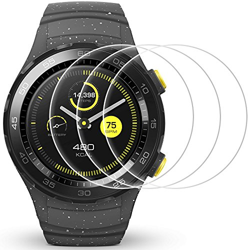 AFUNTA Display Schutz für Huawei Watch 2, 3 Pack gehärtetes Glas Schutzfolien Anti-Scratch High Definition Cover für Smartwatch