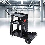 Lyrlody, carrello per saldatrice portatile da 370 libbre, con 2 ruote anteriori girevoli a 360° e 2 grandi ruote posteriori, 83,5 x 69 x 39 cm