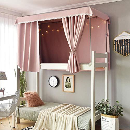 Cortinas de cama simples estudiantes vendedores calientes litera sombreado de encaje dormitorios masculinos y femeninos mosquiteros niñas cortinas de cama-Un trozo de tela rosa Cama de 1,2 m (4 pies)