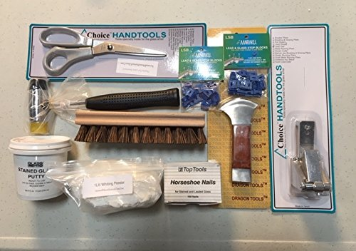 Professional Lead Tool Kit for Stained Glass Project (9 Items)