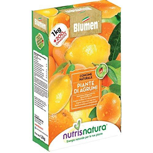 Nutrisnatura Concime Naturale Limoni, Kumquat e Piante di Agrumi, Giallo