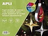 APLI 16649 - Bloc papel aluminio surtido 32 x 24 cm 10 hojas