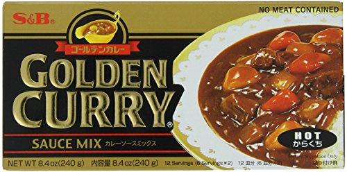 S&B Golden Curry Sauce Mix, Hot, 7.8-Ounce (Pack of 5)