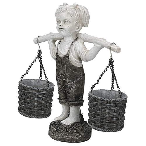 Statues d'extérieur, Statue de Jardin de Petite Fille, Fleurs pour Felicity Statue de Jardin de Petite Fille Statues de Jardin en Pierre à Tons, pour décorations intérieures et extérieures