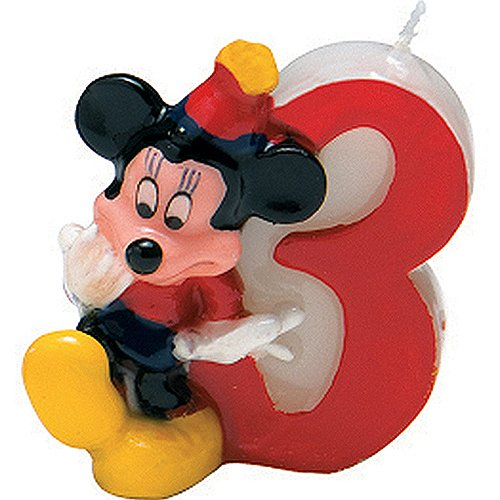 Disney Mickey Mouse Candle Number 3