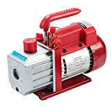 4.5CFM Vacuum Pump, Single Stage 5 Pa Rotary Vane Economy Vacuum Pump for AC HVAC R134a R410a Refrigerant Recharging, 1/4' Flare Inlet Port(Oil Not Included)