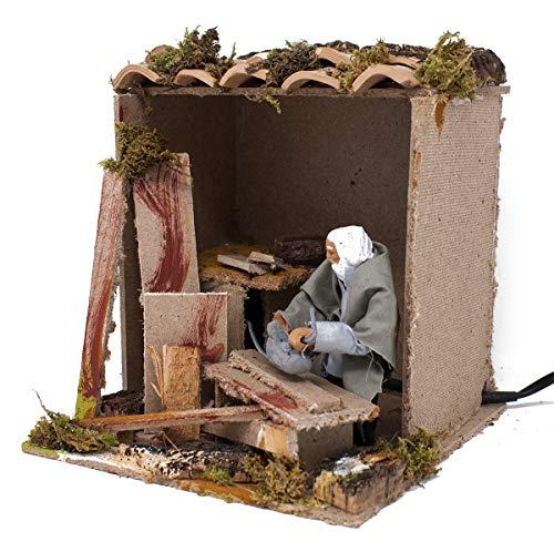 Joy Christmas Pastore Per Presepe In Movimento 17 Cm X 17 Cm Il Falegname