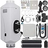 HODOY Riscaldatore Digitale 5Kw Termostato Diesel Riscaldatore Elettrico 12V Per Camper Camper e Autobus (12V 5Kw Controllo Della Temperatura Di Temporizzazione +Silenziatore)