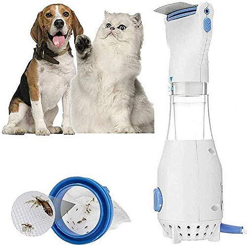 Hzlsy Eléctrico Peine para Mascotas, Eliminación De Piojos Limpieza Cepillo De Mascotas,...