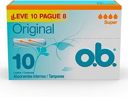 Absorvente Original Super, O.B, Branco, Pacote de 10 unidades