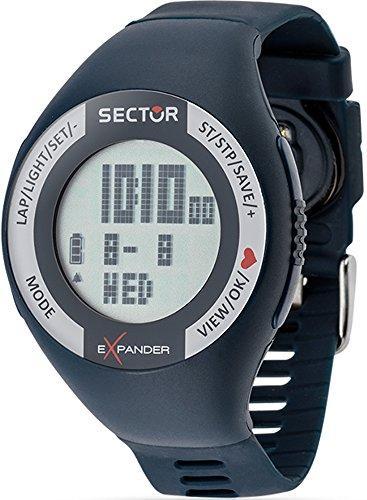 Sector cardio orologio Uomo Digitale Al quarzo con cinturino in Silicone R3251473002
