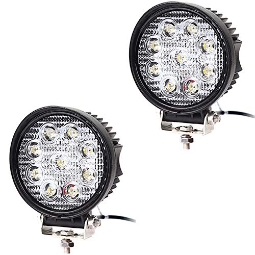 Hengda LED Arbeitsscheinwerfer 12v, 2x 27W LED Scheinwerfer Rückfahrscheinwerfer Traktor Auto Zusatzscheinwerfer, Offroad Strahler Arbeitslicht für LKW Wasserdicht IP67