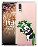 Sunrive Für BlackBerry DTEK50 Hülle Silikon, Transparent Handyhülle Schutzhülle Etui 3D Case für BlackBerry DTEK50(W1 Panda 2)+Gratis Universal Eingabestift MEHRWEG
