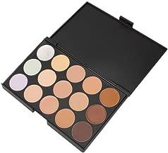 Boolavard 15 Colors Contour Face Cream Makeup Concealer Palette + Powder Sponge Puff