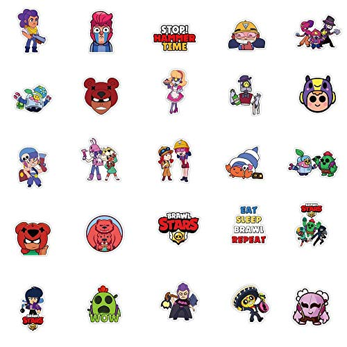50PCS Brawl Stars Game Stickers Aesthetic Cartoon Star Hero AnimeGraffiti Pegatinas Suitcase Suitcase Waterproof