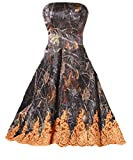 DINGZAN Camo and Lace Bridesmaid Dresses Evening Party Formal Gowns Short 12 Orange