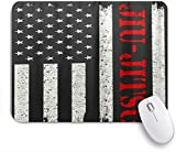 HASENCIV Alfombrilla de Ratón,Bandera de Estados Unidos de América Jiu Jitsu,Alfombrilla de ratón Gaming,Base de Goma Antideslizante,Mouse Pad para Oficina 24 x 20 cm