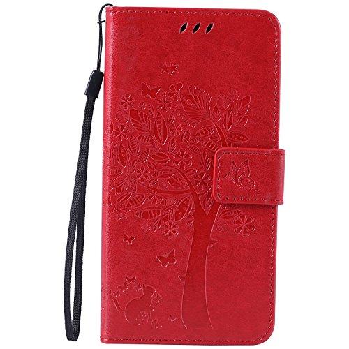Nancen Compatible avec Sony Xperia M4 Aqua (5 Pouces) Coque Haute Qualité PU Cuir Flip Étui Coque de Protection Wallet/Portefeuille Case Cover Housse - avec Carte de Crédit Fente