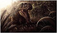 番号でDiyペイントカラフルなティラノサウルスレックス恐竜動物子供のためのキャンバスにペイントする初心者のための番号でデジタル絵画